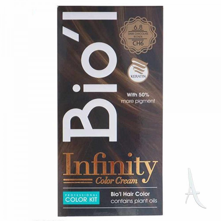 کیت رنگ مو شکلاتی بیول 6.8 بلوند تیره 100+150+30 میلی لیتر