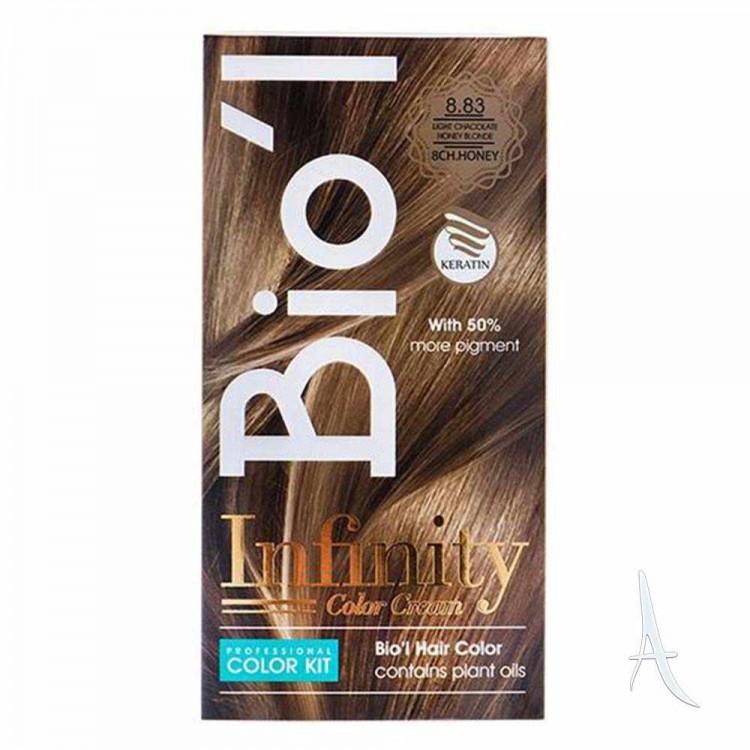 کیت رنگ مو شکلات عسلی بیول 8.83 بلوند روشن 100+150+30 میلی لیتر