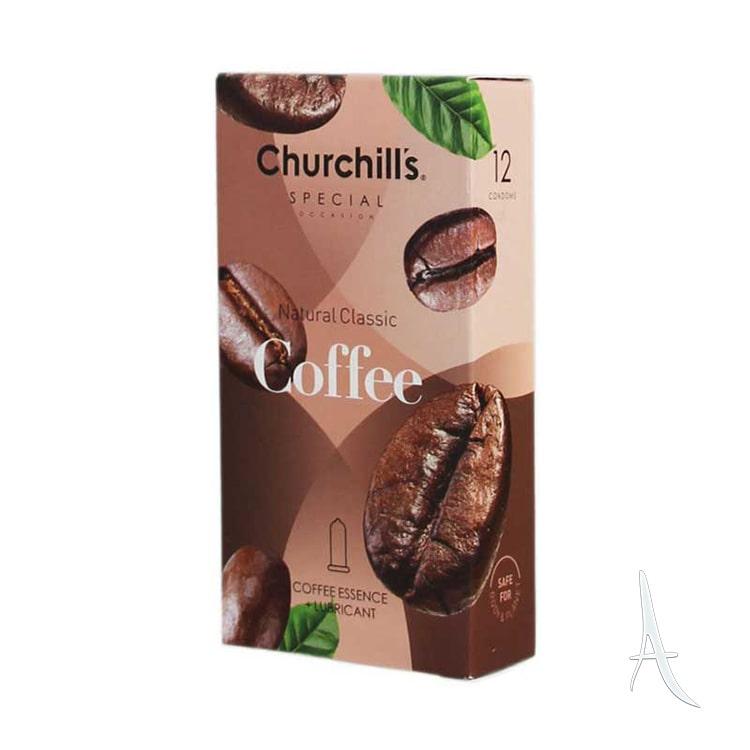کاندوم اسپشیال قهوه روان کننده چرچیلز 12 عددی