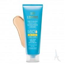 کرم ضد آفتاب رنگی سینره مخصوص پوست چرب اس پی اف 60