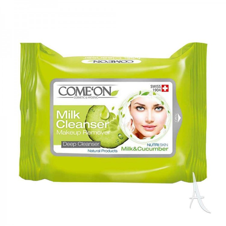 کامان دستمال مرطوب پاک کننده آرایش 20عددی