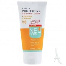 کرم ضد آفتاب هایلی پروتکتیو نئودرم اس پی اف 50 مخصوص پوست نرمال تا خشک  50 میلی لیتر
